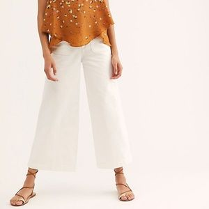 NEW Free people Colette wide leg flare jeans 29